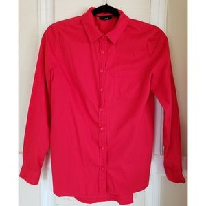 APT 9 Red Button Up